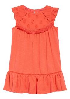 Mini Boden Broderie Detail Dress (Toddler Girls, Little Girls & Big Girls)