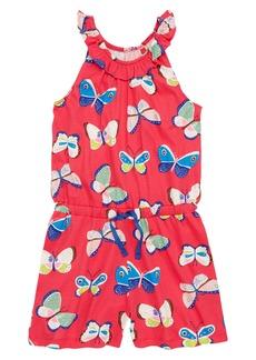 Mini Boden Butterfly Jersey Romper (Toddler Girls, Little Girls & Big Girls)