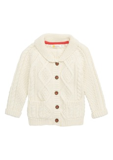 Mini Boden Cable Knit Cardigan (Baby Boys & Toddler Boys)