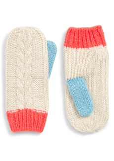 Mini Boden Cable Mittens (Toddler Girls, Little Girls & Big Girls)