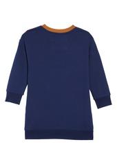Mini Boden Chevron Jersey Sweatshirt Dress (Toddler Girls, Little Girls & Big Girls)