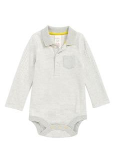Mini Boden Collared Bodysuit (Baby Boys)