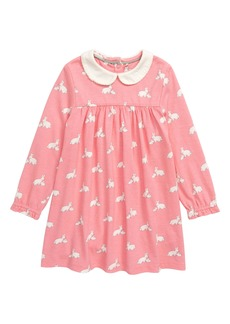 Mini Boden Collared Jersey Dress (Toddler Girls)