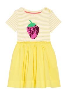Mini Boden Color Change Sequin Strawberry Dress (Toddler Girls, Little Girls & Big Girls)