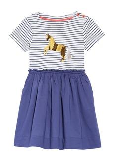Mini Boden Color Change Sequin Unicorn Dress (Toddler Girls, Little Girls & Big Girls)