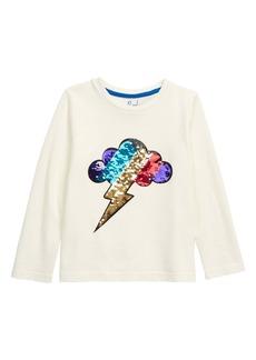 Mini Boden Color Changing Sequin T-Shirt (Toddler, Little Boy & Big Boy)