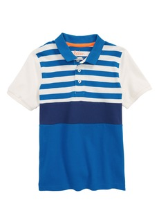 Mini Boden Colorblock Piqué Polo (Toddler Boys, Little Boys & Big Boys)