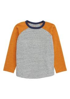 Mini Boden Colorblock Raglan T-Shirt (Toddler Boys, Little Boys & Big Boys)