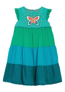 Mini Boden Colorblock Tiered Midi Dress (Toddler Girls, Little Girls & Big Girls)