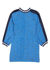 Mini Boden Contrast Sleeve Print Dress (Toddler Girls, Little Girls & Big Girls)