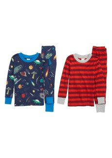 Mini Boden Cosy 2-Pack Fitted Two-Piece Pajamas (Toddler Boys, Little Boys & Big Boys)