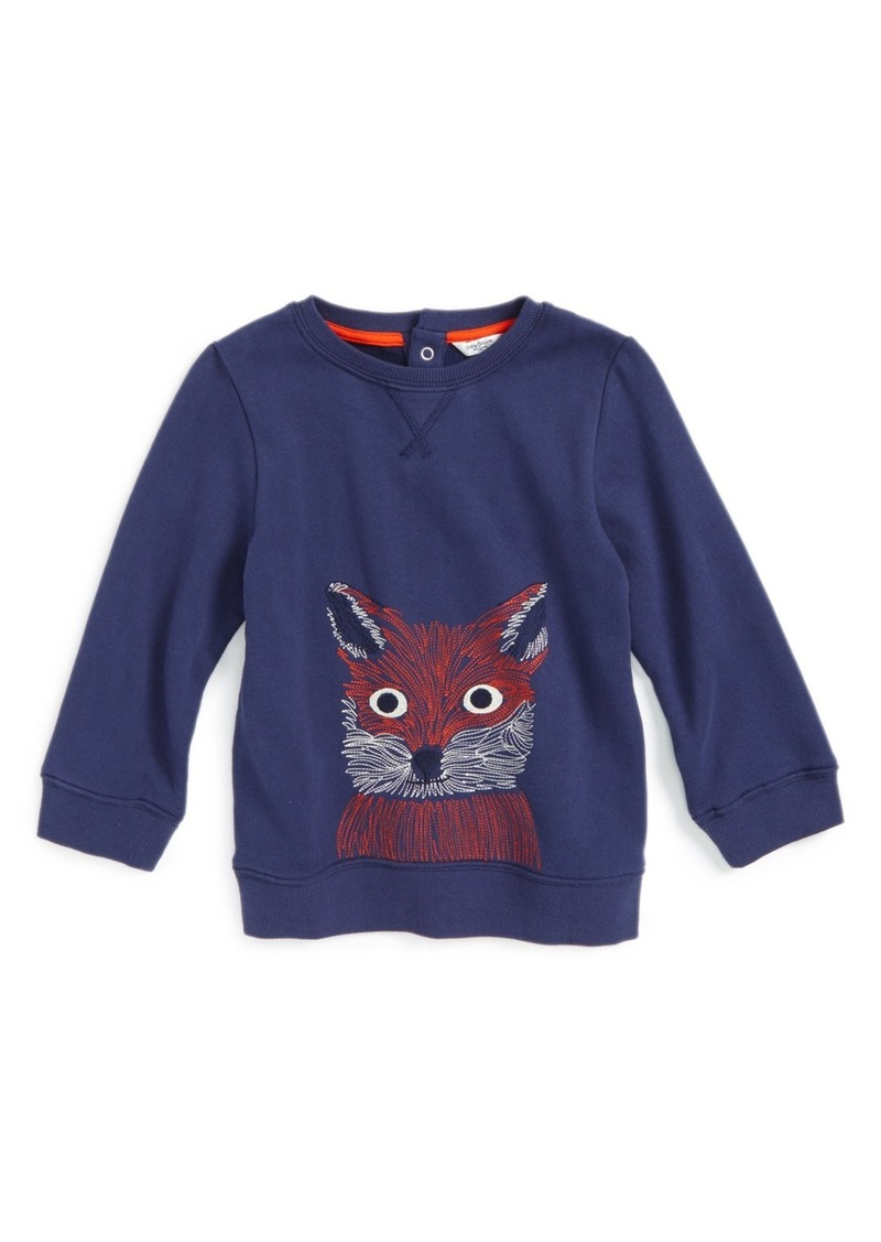 Mini Boden 'Cosy' Embroidered Sweatshirt (Baby Boys & Toddler Boys)