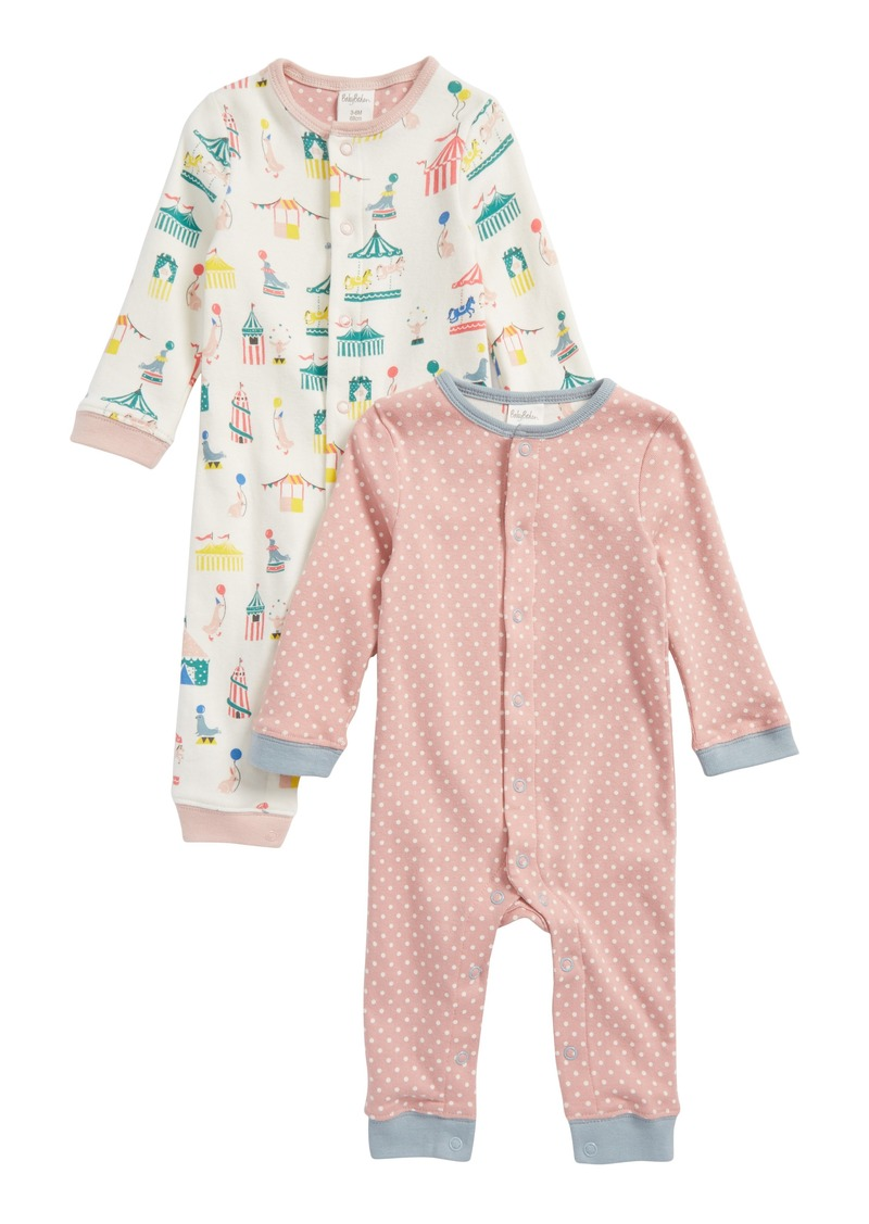 53850e181c05 SALE! Mini Boden Mini Boden Cozy 2-Pack Rompers (Baby Girls)