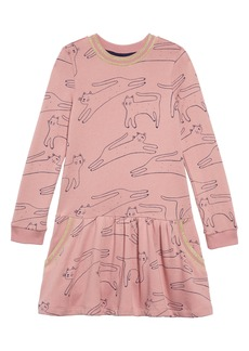 Mini Boden Cozy Drop Waist Sweatshirt Dress (Toddler Girls, Little Girls & Big Girls)