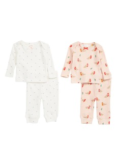 Mini Boden Cozy Pointelle 2-Pack Tee & Pants Set (Baby & Toddler)