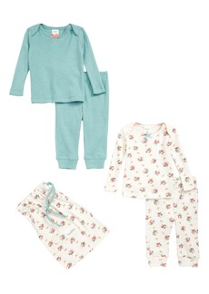 Mini Boden Cozy Pointelle Tees & Pants Set (Baby Girls)