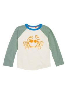 Mini Boden Crab Raglan Shirt (Toddler Boys, Little Boys & Big Boys)