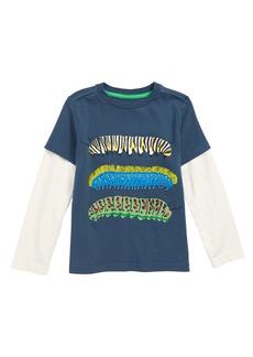 Mini Boden Creepy Crawly Caterpillars Layered T-Shirt (Toddler Boys, Little Boys & Big Boys)