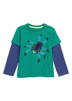 Mini Boden Creepy Crawly Spider T-Shirt (Toddler Boys, Little Boys & Big Boys)