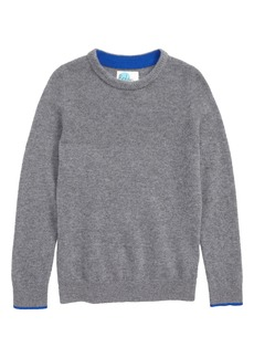 Mini Boden Crew Cashmere Sweater (Toddler Boys, Little Boys & Big Boys)