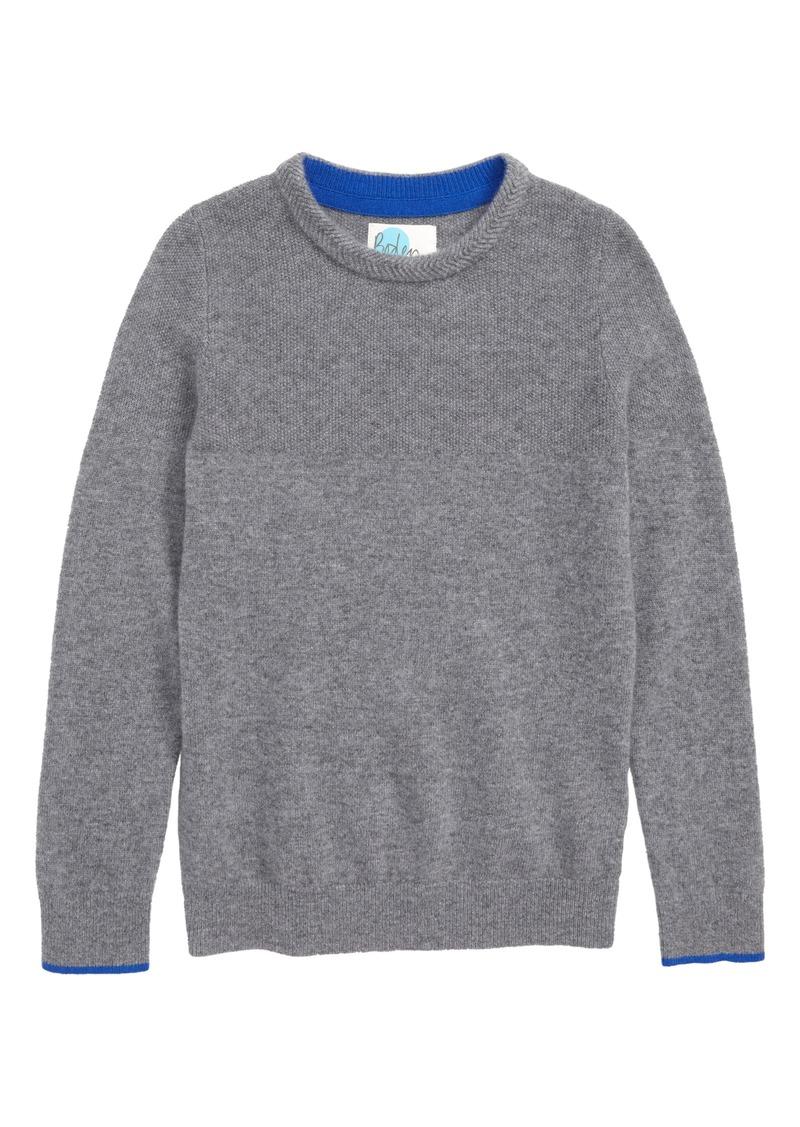 39d35b97c5da Mini Boden Mini Boden Crew Cashmere Sweater (Toddler Boys
