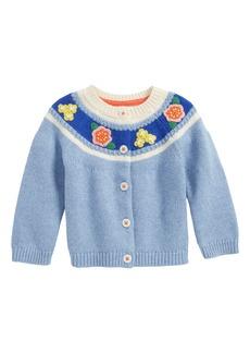 Mini Boden Crochet Flower Cardigan (Baby Girls & Toddler Girls)