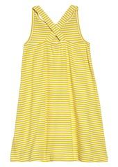Mini Boden Cross Back Appliqué Dress (Toddler Girls, Little Girls & Big Girls)