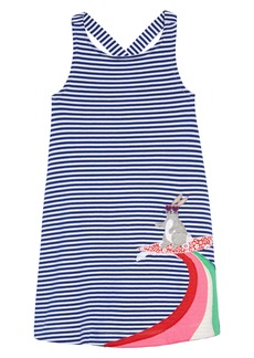 Mini Boden Cross Back Appliqué Dress (Toddler Girls, Little Girls & Big Girls)