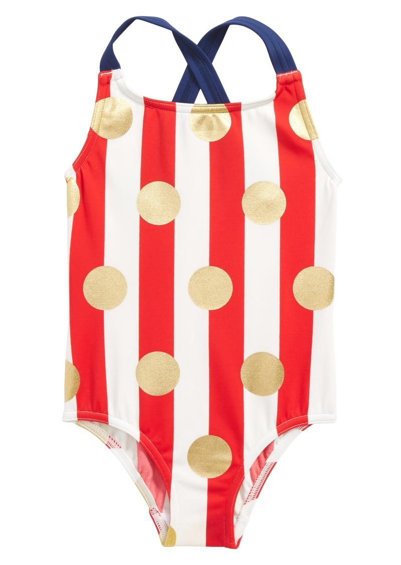a4ebd999d36 Mini Boden Cross Back One-Piece Swimsuit (Toddler Girls, Little Girls & Big