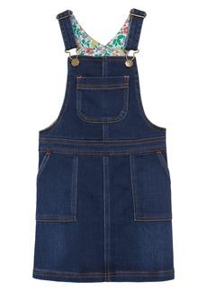 Mini Boden Denim Dungaree Overall Dress (Toddler Girls, Little Girls & Big Girls)