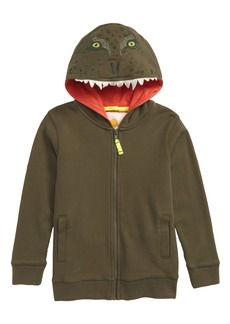 Mini Boden Dino Full Zip Hoodie (Toddler Boys, Little Boys & Big Boys)