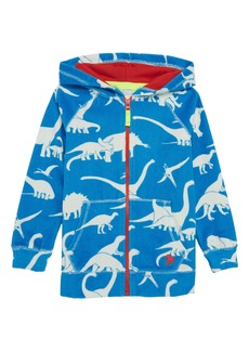 Mini Boden Dino Towelling Zip Hoodie (Toddler Boys, Little Boys & Big Boys)