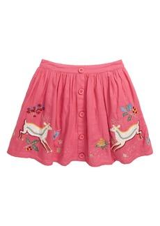 Mini Boden Embroidered Appliqué Skirt (Toddler Girls, Little Girls & Big Girls)