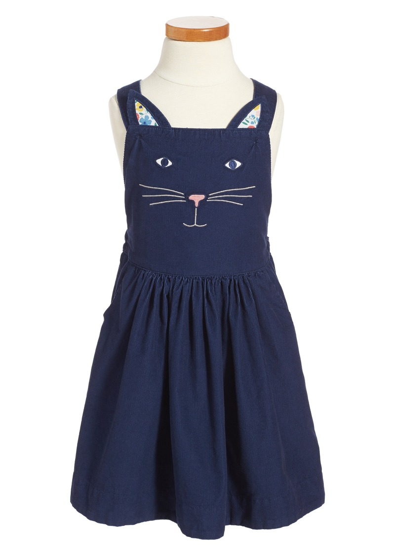 Mini boden mini boden embroidered cat dungaree dress for Mini boden sale deutschland