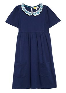 Mini Boden Embroidered Collar Dress (Toddler Girls, Little Girls & Big Girls)