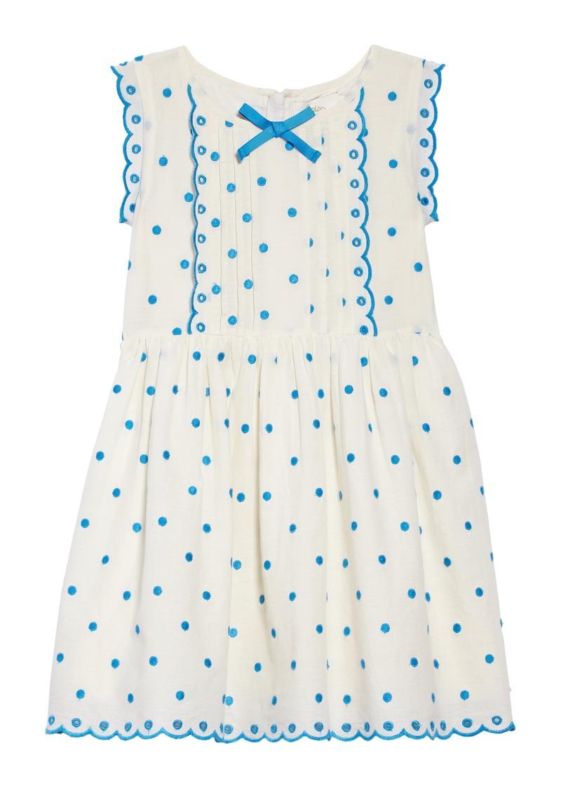 1775bf759d85 Mini Boden Mini Boden Embroidered Dot Scalloped Dress (Little Girls ...