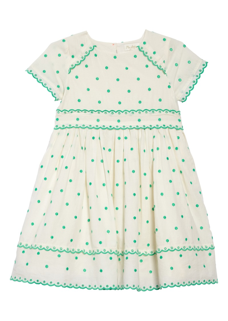 4a215974d6f8 Mini Boden Embroidered Dot Scalloped Dress (Toddler Girls, Little Girls &  Big Girls)