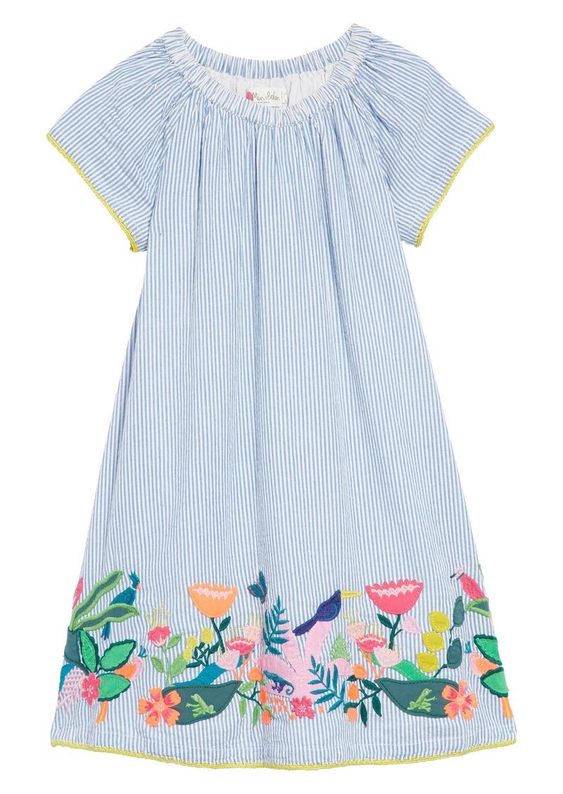 1e4cf376ed54 Mini Boden Embroidered Hem Dress (Toddler Girls, Little Girls & Big Girls)