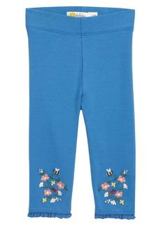 Mini Boden Embroidered Leggings (Baby)