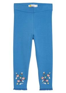 Mini Boden Embroidered Leggings (Toddler Girls)
