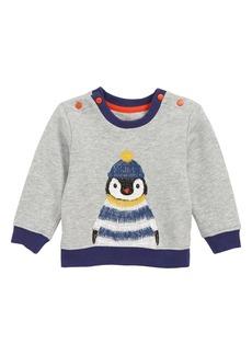 Mini Boden Embroidered Penguin Sweatshirt (Baby & Toddler Boys)