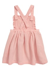 Mini Boden Embroidered Pinafore Dress (Toddler Girls)