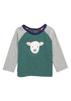 Mini Boden Embroidered Raglan Shirt (Baby)