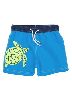 Mini Boden Embroidered Turtle Swim Trunks (Toddler Boys, Little Boys & Big Boys)