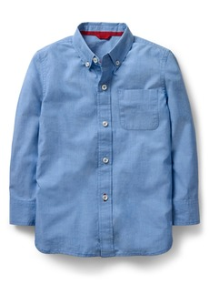 Mini Boden End on End Woven Shirt (Toddler Boys, Little Boys & Big Boys)