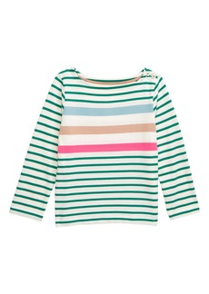 Mini Boden Everyday Breton Stripe Tee (Toddler Girls, Little Girls & Big Girls)