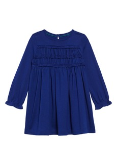 Mini Boden Everyday Ruffle Long Sleeve Dress (Toddler Girls, Little Girls & Big Girls)