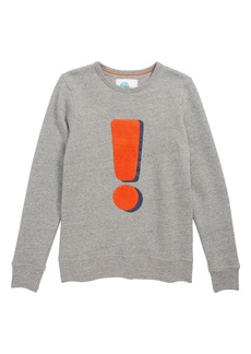 Mini Boden Exclamation Graphic Sweater (Little Boys & Big Boys)