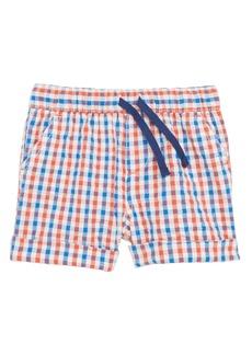 Mini Boden Explorer Gingham Shorts (Baby Boys)