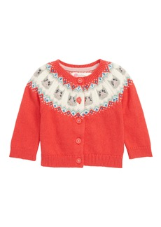 Mini Boden Fair Isle Cardigan (Baby Girls & Toddler Girls)